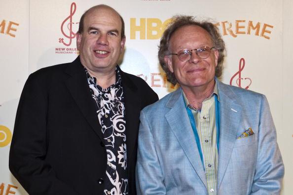 (E-D) David Simon e Eric Overmyer (Foto: Getty)