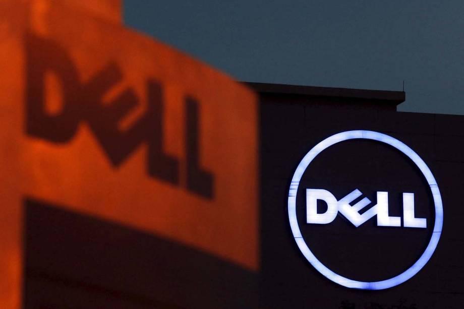 Dell - Logotipo da empresa Dell em fachada de prédio da companhia