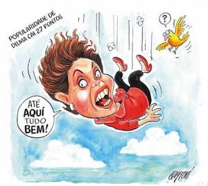 Dilma cai charge