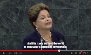 Dilma no vídeo dos manifestantes venezuelanos: a cúmplice