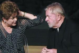 Dilma Lula tensos