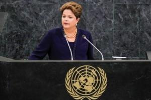 Dilma: manifestação na internet
