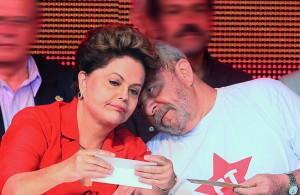 Lula e Dilma: radiante, abatida/abatido, radiante