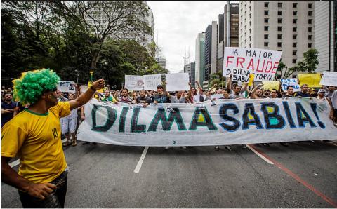 Protesto contra Dilma na Paulista e em favor da auditoria nas eleições (Eduardo Anizelli/Folhapress)