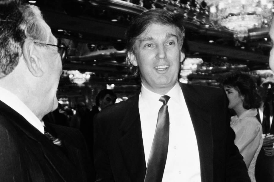 Donald Trump no Trump Taj Mahal Casino em Atlantic City, Nova Jersey - 06/04/1990