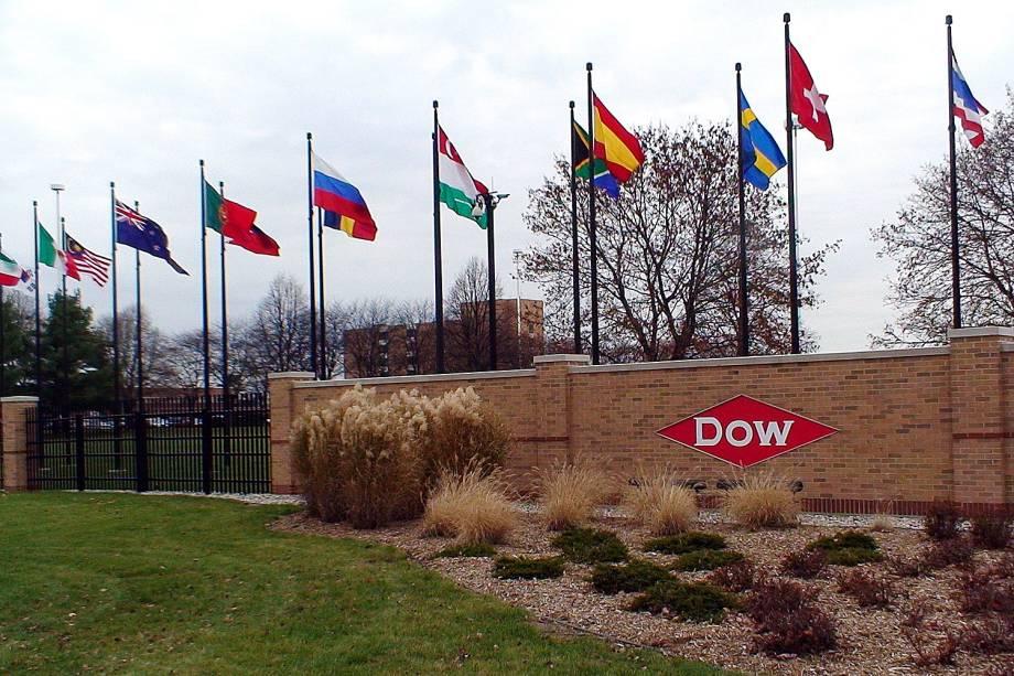 Dow Chemical - Vista da entrada de uma das unidades da companhia