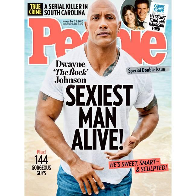 Dwayne Johnson é eleito homem mais sexy pela 'People' em 2016