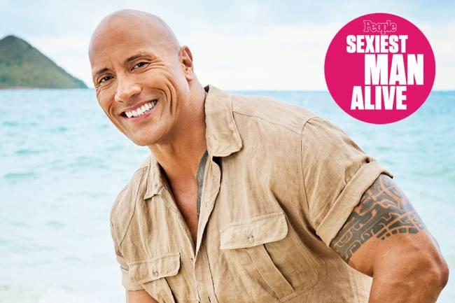 Dwayne 'The Rock' Johnson é eleito homem mais sexy pela 'People'