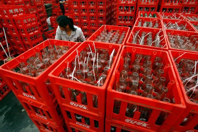 Fábrica da Coca Cola em Chongqing na China