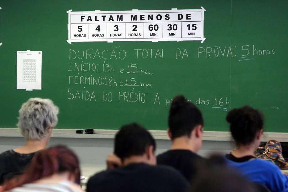 Estudantes começam a prova da Fuvest, vestibular que dá vaga para Universidade de São Paulo - 27/11/2016