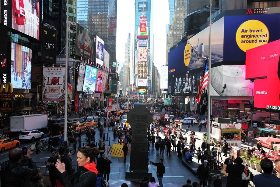 Times Square no dia de eleição presidencial - 08/11/2016