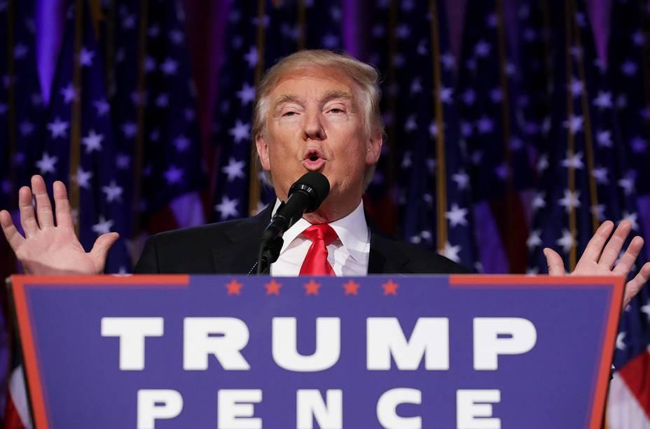 Primeiro discurso de Donald Trump como presidente eleito dos EUA - 09/11/2016
