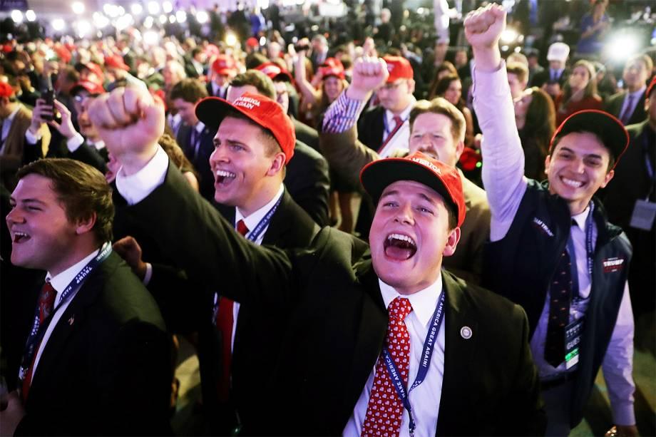 Apoiadores do candidato republicano à Presidência dos Estados Unidos, Donald Trump, em Nova York - 09/11/2016