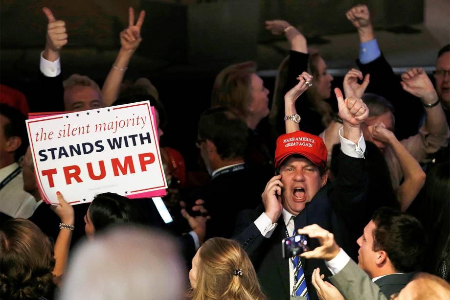 Apoiadores do candidato republicano à Presidência dos Estados Unidos, Donald Trump, em Nova York - 09/11/2016REUTERS/Mike Segar