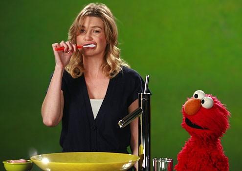 Ellen Pompeo e Elmo