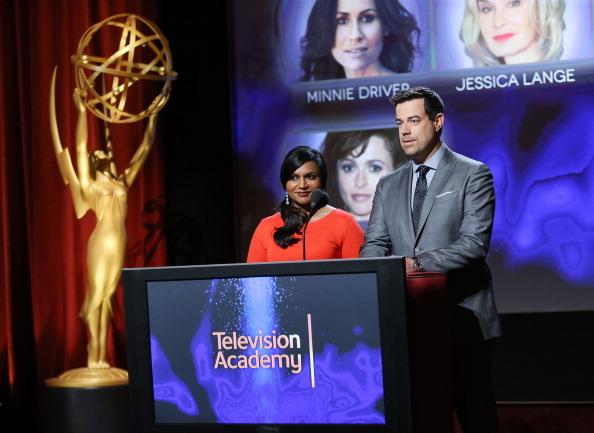 Mindy Kaling e Carson Daly (Foto: Getty)