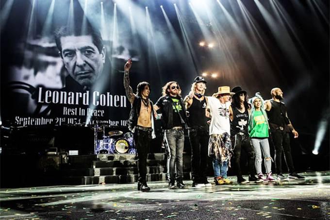 A banda Guns N'Roses realiza show em São Paulo (SP)