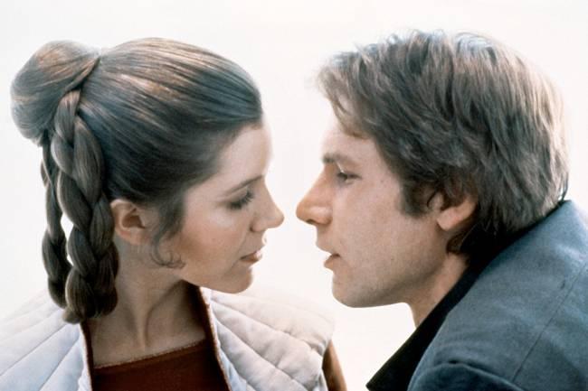 Carrie Fisher e Harrison Ford, em cena do filme 'Star Wars V -O Império Contra-Ataca' - 1980