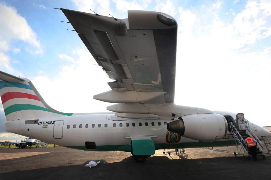 Aeronave da Lamia que transportava a equipe da Chapecoense