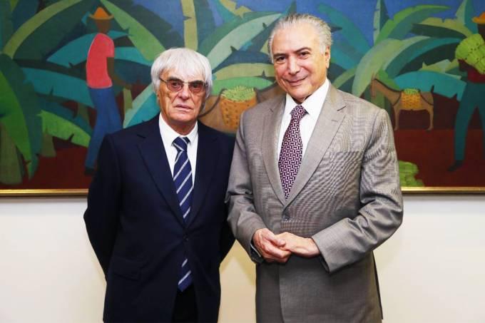 Bernie Ecclestone e Michel Temer