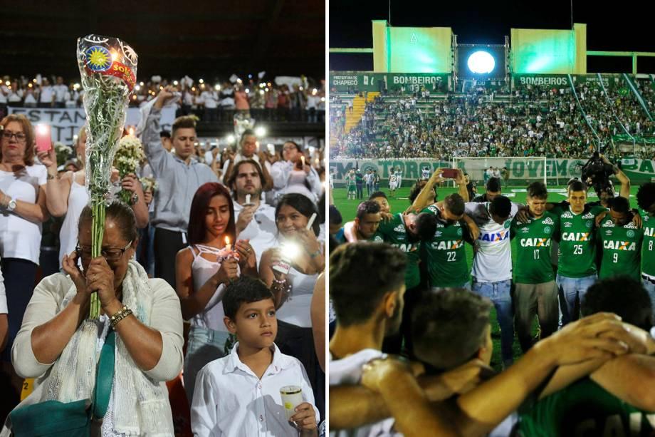 Homenagens à Chapecoense em Medellín e em Chapecó