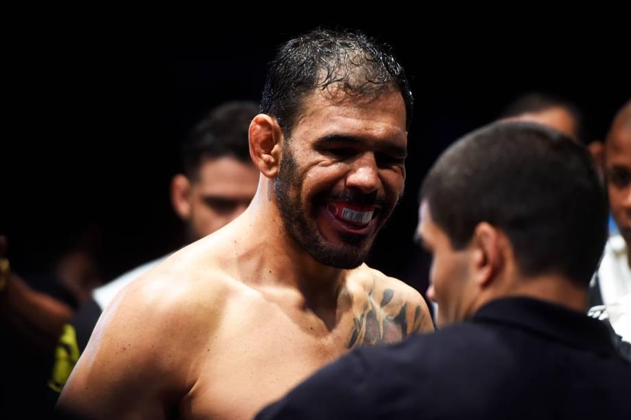 Rogério Minotouro se prepara antes de enfrentar Ryan Bader pelo UFC Fight Night, realizado no Ginásio do Ibirapuera, em São Paulo (SP) - 20/11/2016