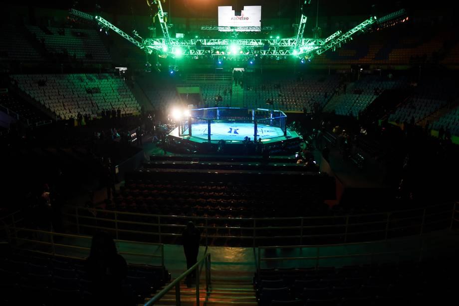 Preparativos para o UFC Fight Night, realizado no Ginásio do Ibirapuera, zona sul de São Paulo (SP) - 19/11/2016