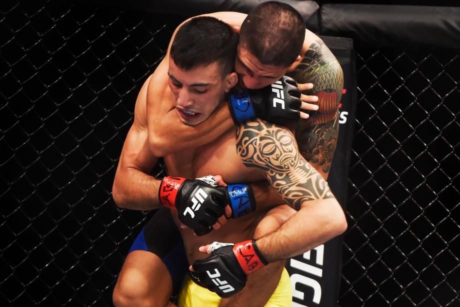 Thomas Almeida enfrenta Albert Morales, na quinta luta do card principal do UFC Fight Night, realizado no Ginásio do Ibirapuera, em São Paulo (SP) - 20/11/2016