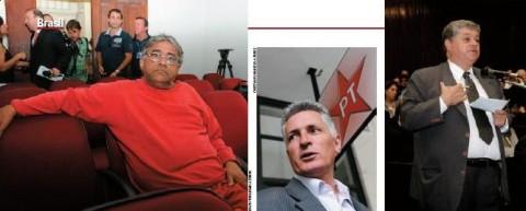 """QUADR ILHA Nilton Monteiro, quando foi preso em outubro passado, e os deputados petistas Rogério Correia (acima) e Agostinho Valente (hoje no PDT): os políticos mineiros prometeram ao estelionatário dinheiro e """"negócios"""" em bancos do governo federal como pagamento pela falsificação da chamada """"lista de Furnas"""""""