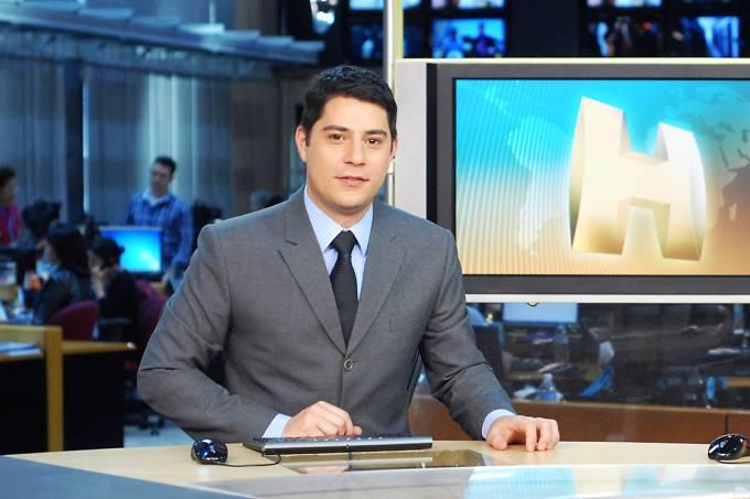 O apresentador do Jornal Hoje, Evaristo Costa