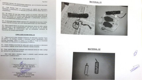 Perícia mostra que casal de black blocs tinha bomba caseira com capacidade de provocar mortes