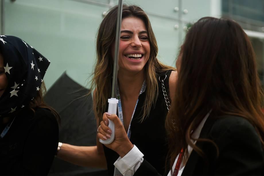 Daniela Cicarelli comparece ao Grande Prêmio do Brasil de Fórmula 1, realizado no Autódromo de Interlagos, zona sul de São Paulo (SP) - 13/11/2016