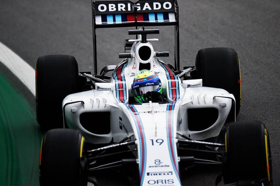 O piloto Felipe Massa, da equipe Williams, durante o treino classificatório para o Grande Prêmio do Brasil de Fórmula 1, realizado no Autódromo de Interlagos, zona sul de São Paulo (SP) - 12/11/2016