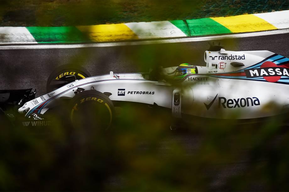 O piloto brasileiro Felipe Massa, da equipe Williams, durante o treino classificatório para o Grande Prêmio do Brasil de Fórmula 1, realizado no Autódromo de Interlagos, zona sul de São Paulo (SP) - 12/11/2016