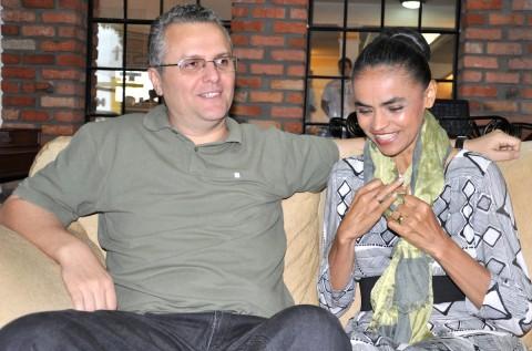 Fábio Vaz e Marina Silva: não é só marido; é parceiro de militância política e inspirador