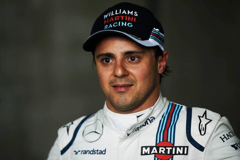 O piloto brasileiro Felipe Massa, após treino classificatório para o Grande Prêmio do Brasil de Fórmula 1, realizado no Autódromo de Interlagos, zona sul de São Paulo (SP) - 12/11/2016