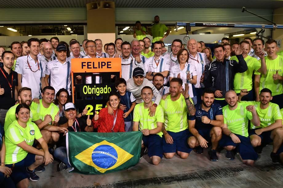 Felipe Massa se despede das pistas de Formula 1 após Grand Prix em Abu Dhabi, nos Emirados Árabes - 27/11/2016