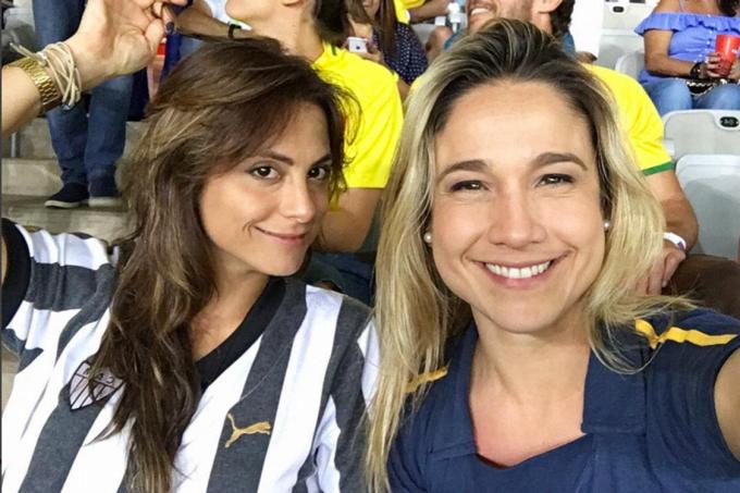 Jornalista Fernanda Gentil e a namorada, Priscila Montandon, também jornalista