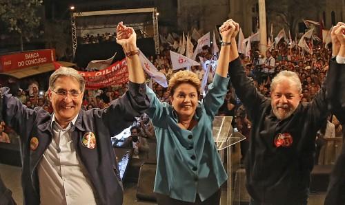 fernando pimentel dilma e lula campanha 2014 by ricardo stuckert