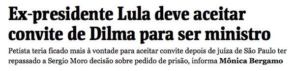 Folha Lula ministro