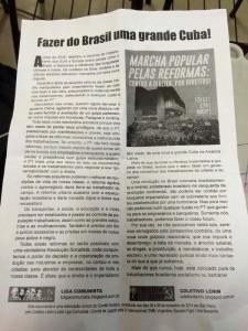 Folheto Cuba