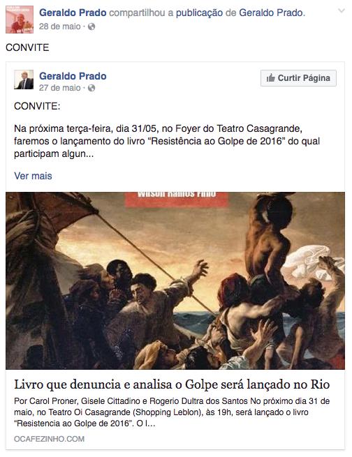Geraldo Prado convida