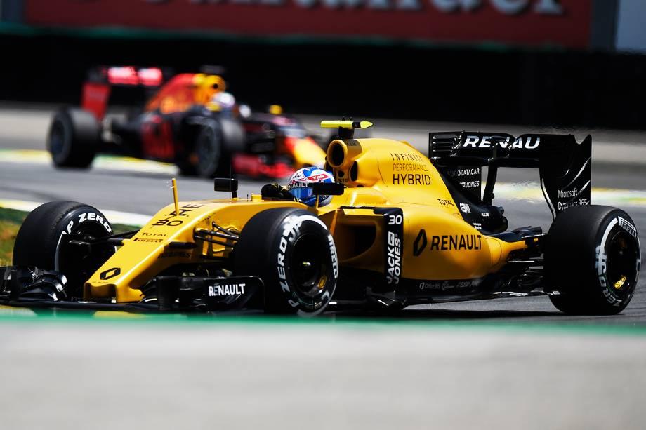 O piloto Jolyon Palmer no primeiro dia de treino livre para o Grande Premio do Brasil de Formula 1 2016 realizada no Autódromo de Interlagos - 11/11/2016