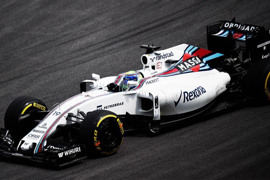 O piloto brasileiro Felipe Massa, da Williams durante treino livre para o Grande Prêmio Brasil de Fórmula 1, no Autódromo de Interlagos, na zona sul de São Paulo - 11/11/2016