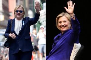Visão dupla: inventaram até que Hillary de terninho não é Hillary, mas uma sósia