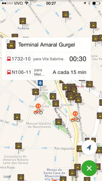 Estações de bike, de metrô, ônibus: meios combinados
