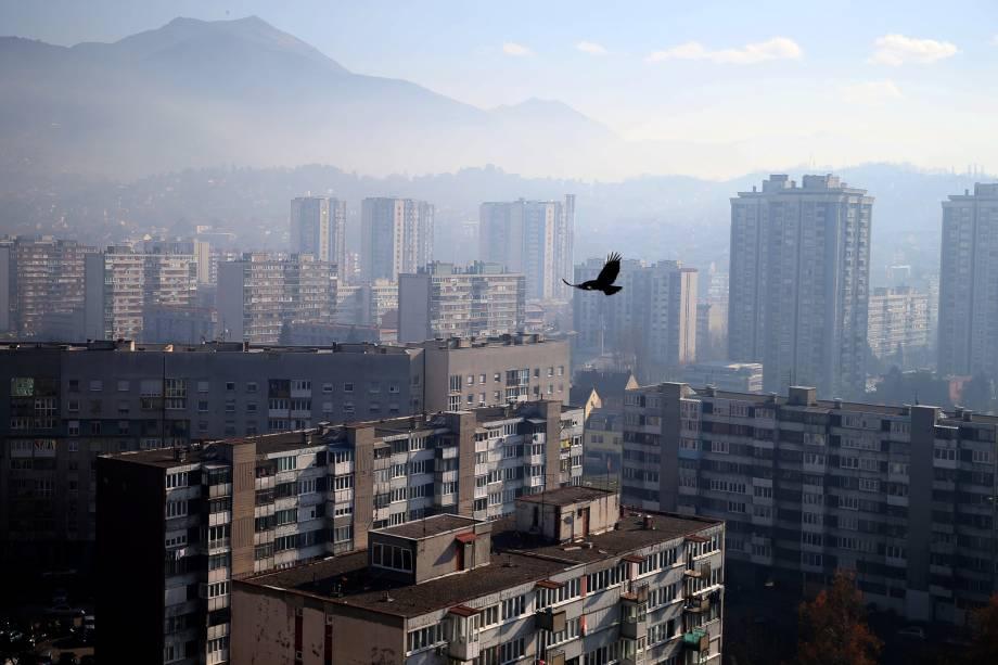 Vista geral da cidade de Sarajevo, na Bósnia e Herzegovina - 18/11/2016