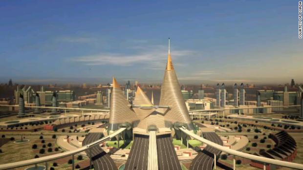 Perspectiva da cidade  Gujarat