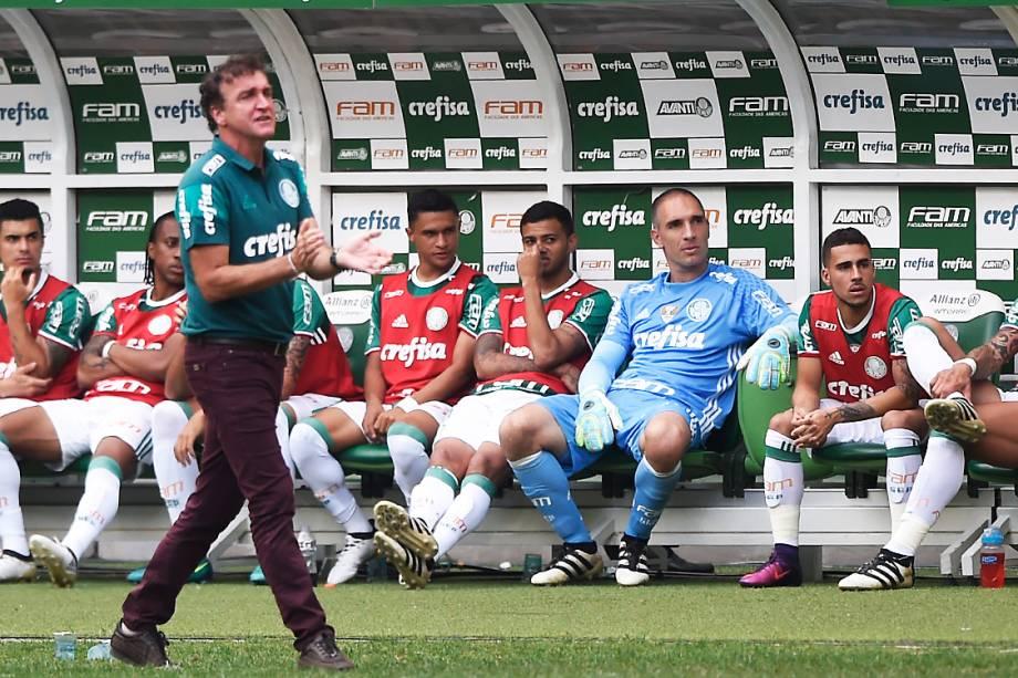 <span>Partida entre</span><span>Palmeiras e Chapecoense, pela penúltima rodada do Brasileirão, em São Paulo</span>