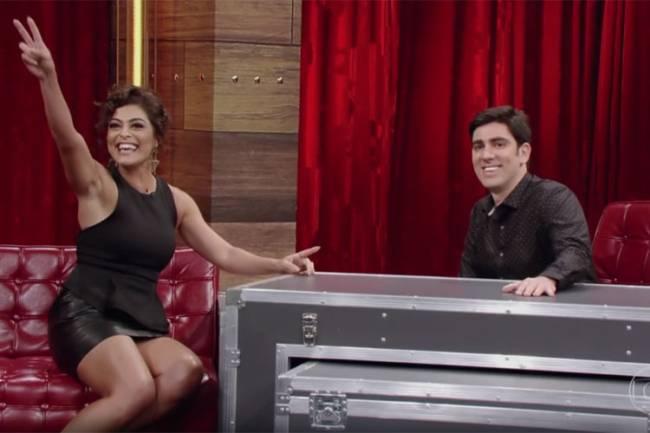 Juliana Paes e Marcelo Adnet no 'Adnight'